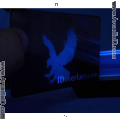 Shield and Key ID Card Hologram Overlay with UV Eagle
